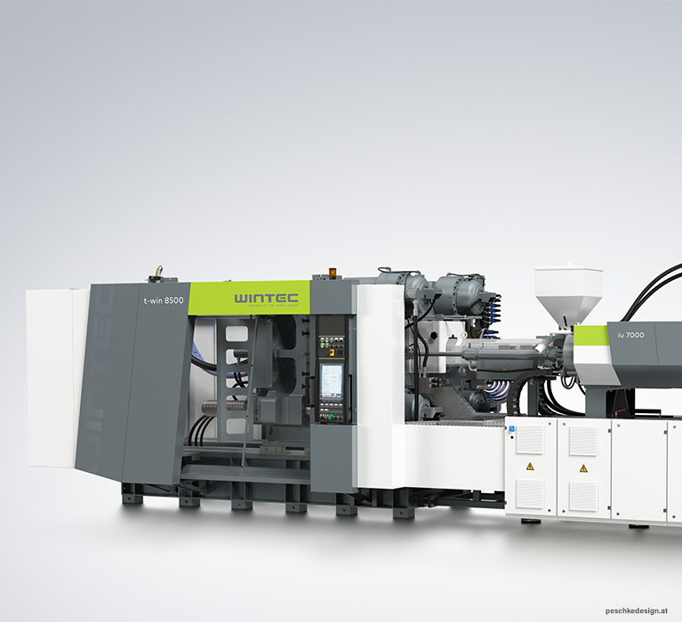 Industrial design for wintec injection moulding machines.