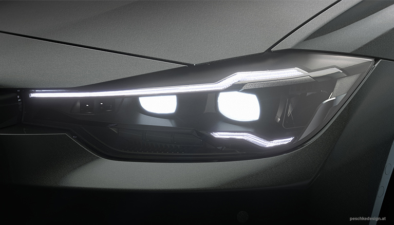 Industrial design for a headlight technology demonstrator.