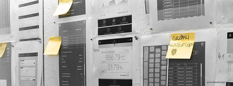 Pinboard displaying hmi design interface elements.