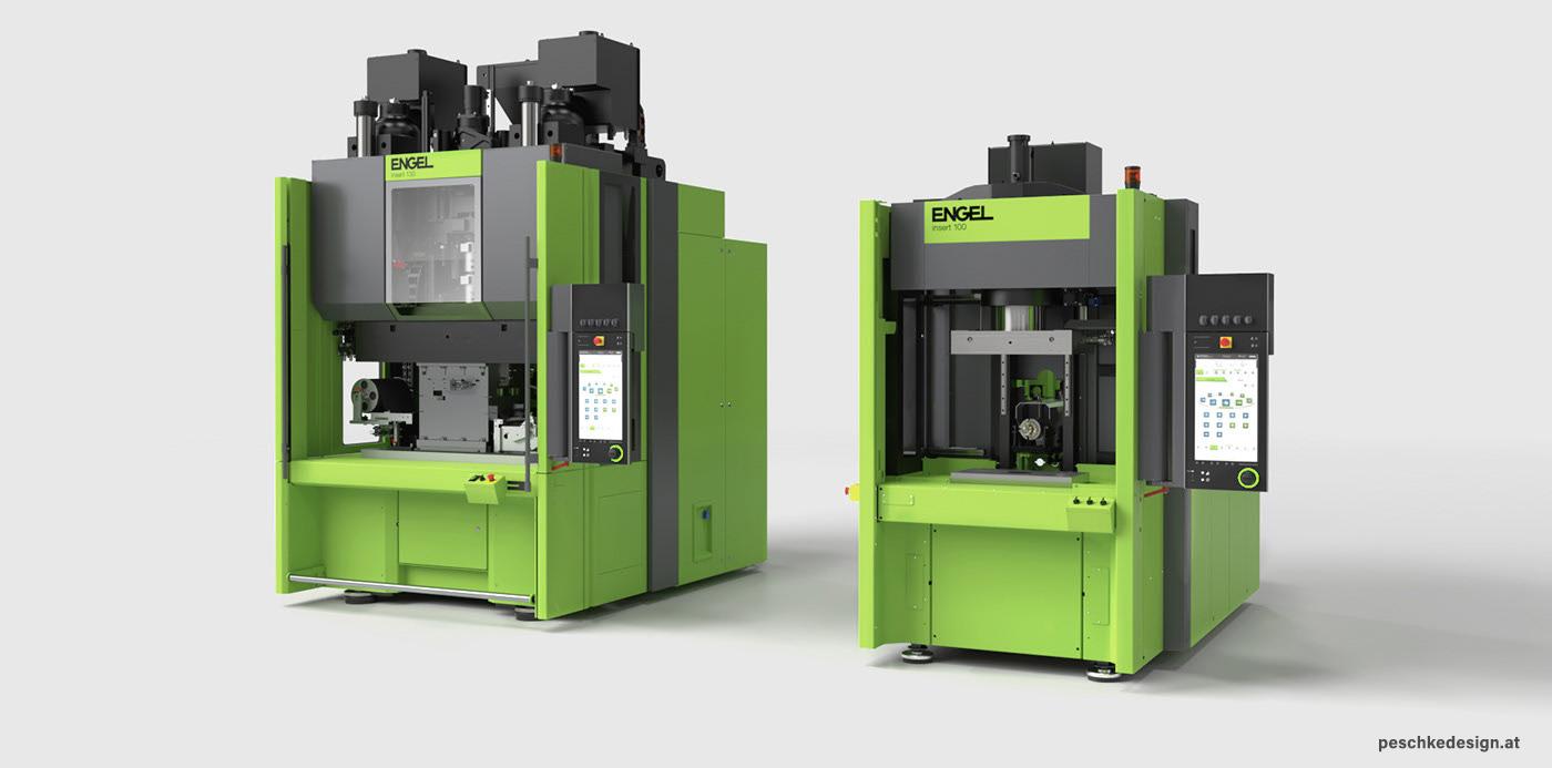 Rendering des Industriedesign-Entwurfs für Engel Insert Spritzguss-Maschinen