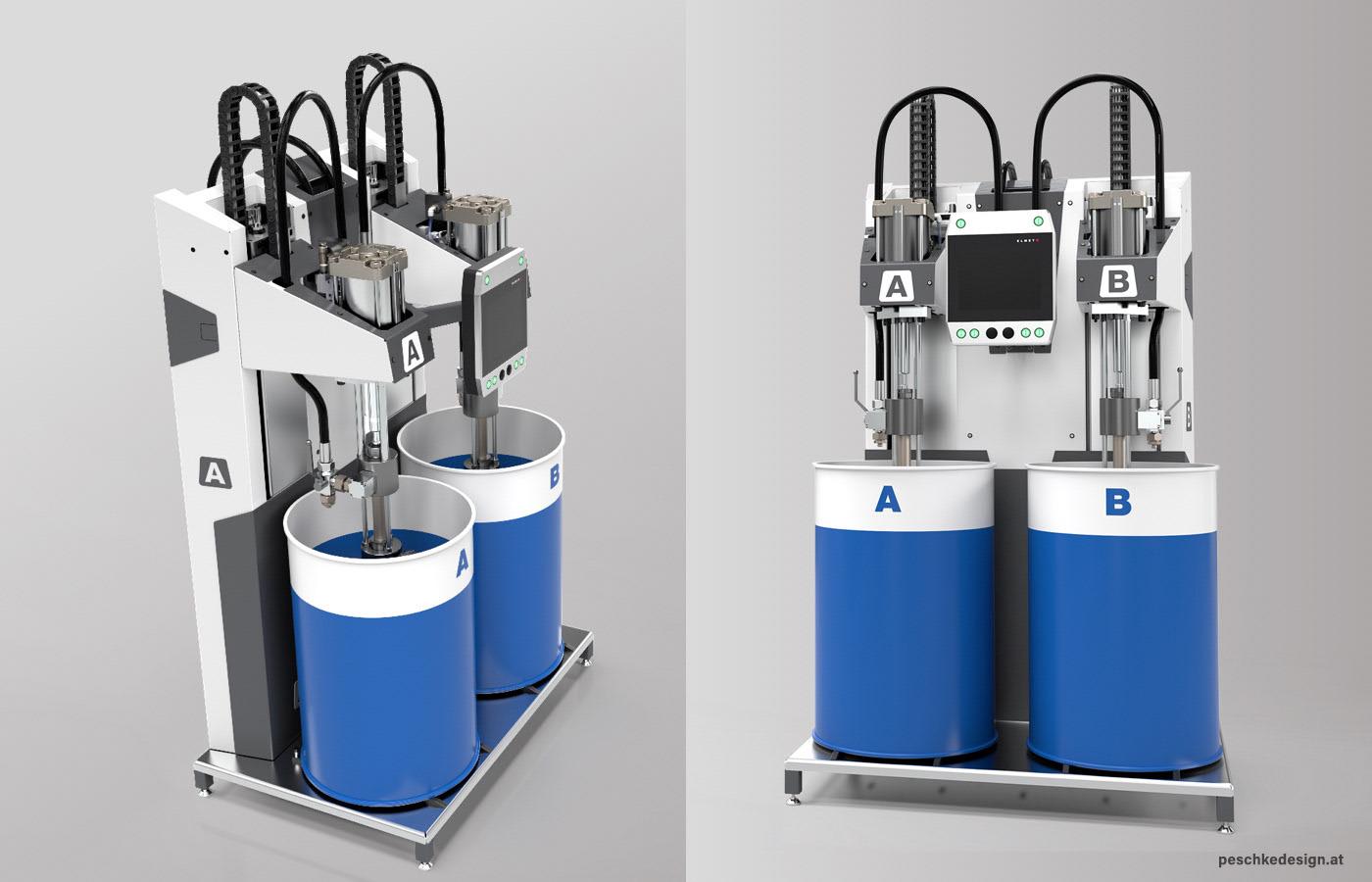 Industriedesign der Elmet Silkon-Mischmaschine