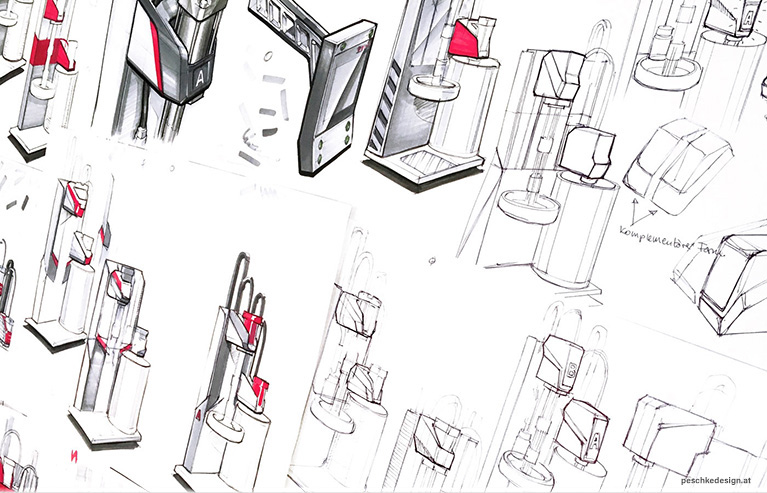 industrial design concept sketches