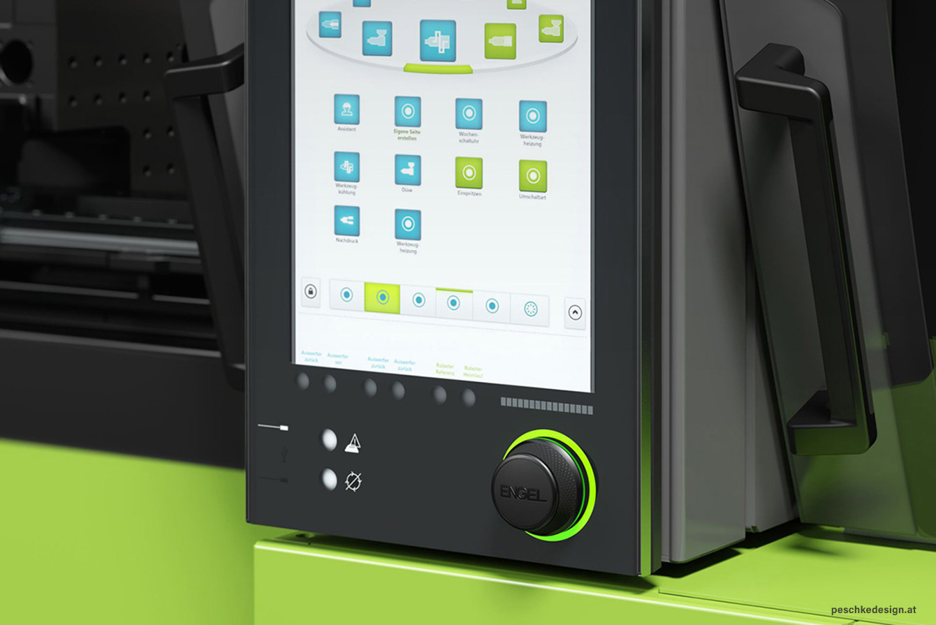 Interface elements of the HMI.