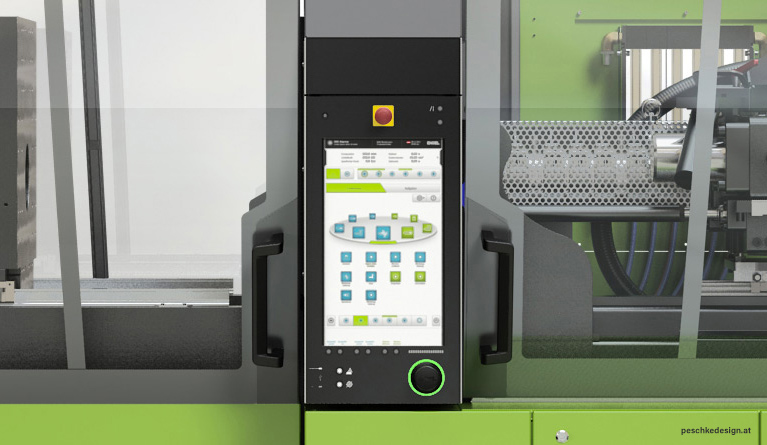 The HMI integrates seamlessly into the machine design.