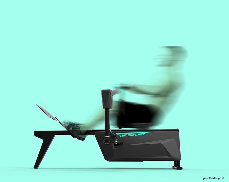 produktdesign ruder-ergometer seitenansicht mobile