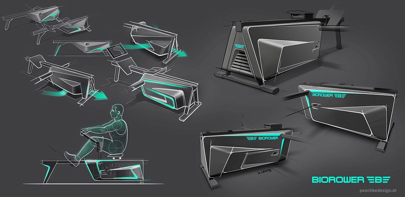 product design sketches for biorower