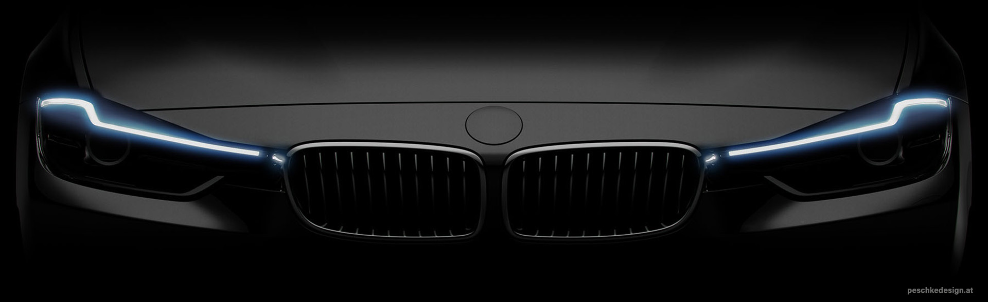 Front view of headlight design for zkw.
