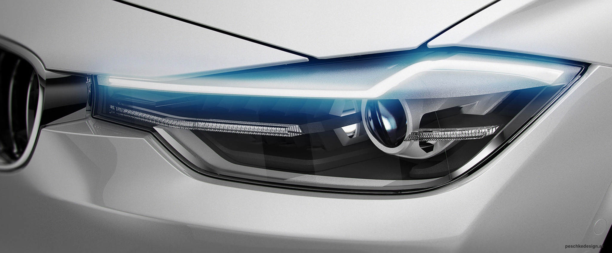 Productdesign for zkw headlight technology demonstrator.