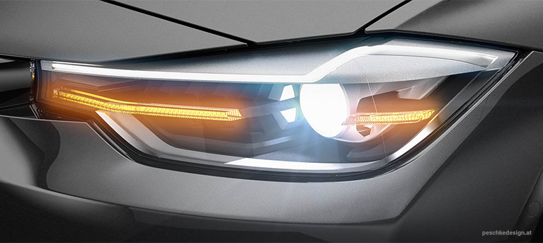 Industrial design for zkw headlight technology demonstrator.