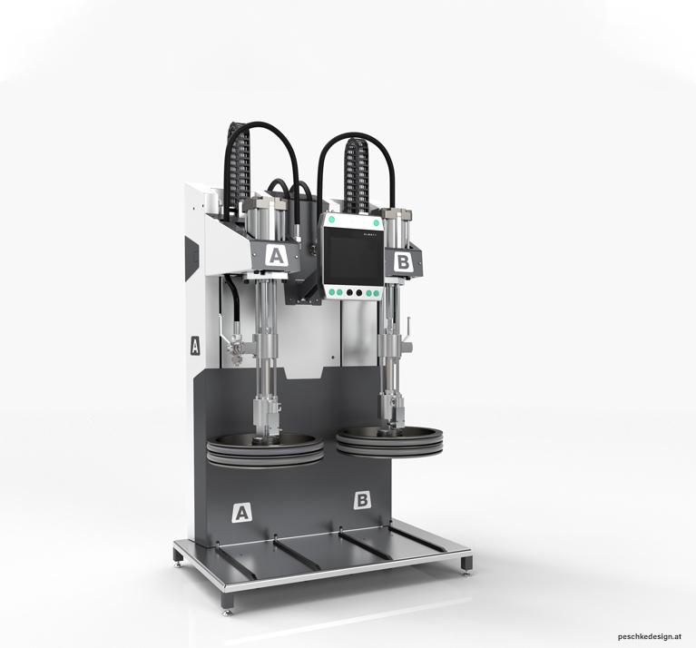 Industriedesign der Elmet Silikon-Maschine
